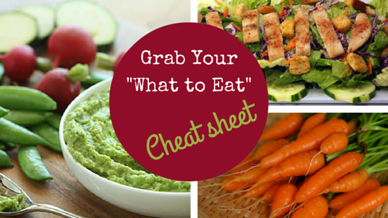 What to eat checklist